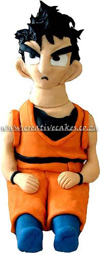 Sculptured Dragon Ballz Cake is a 3D Cake of Goku, Goku is one of the Characters on Dragon Ballz